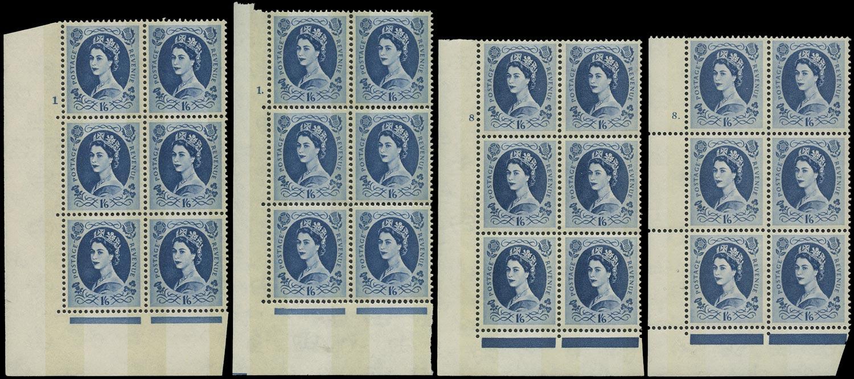 GB 1966  SG618a Mint - Cyl.1+8 Type A and F(L)* cylinder blocks