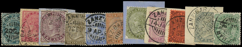 ZANZIBAR 1882  SGZ100/10 Cancel