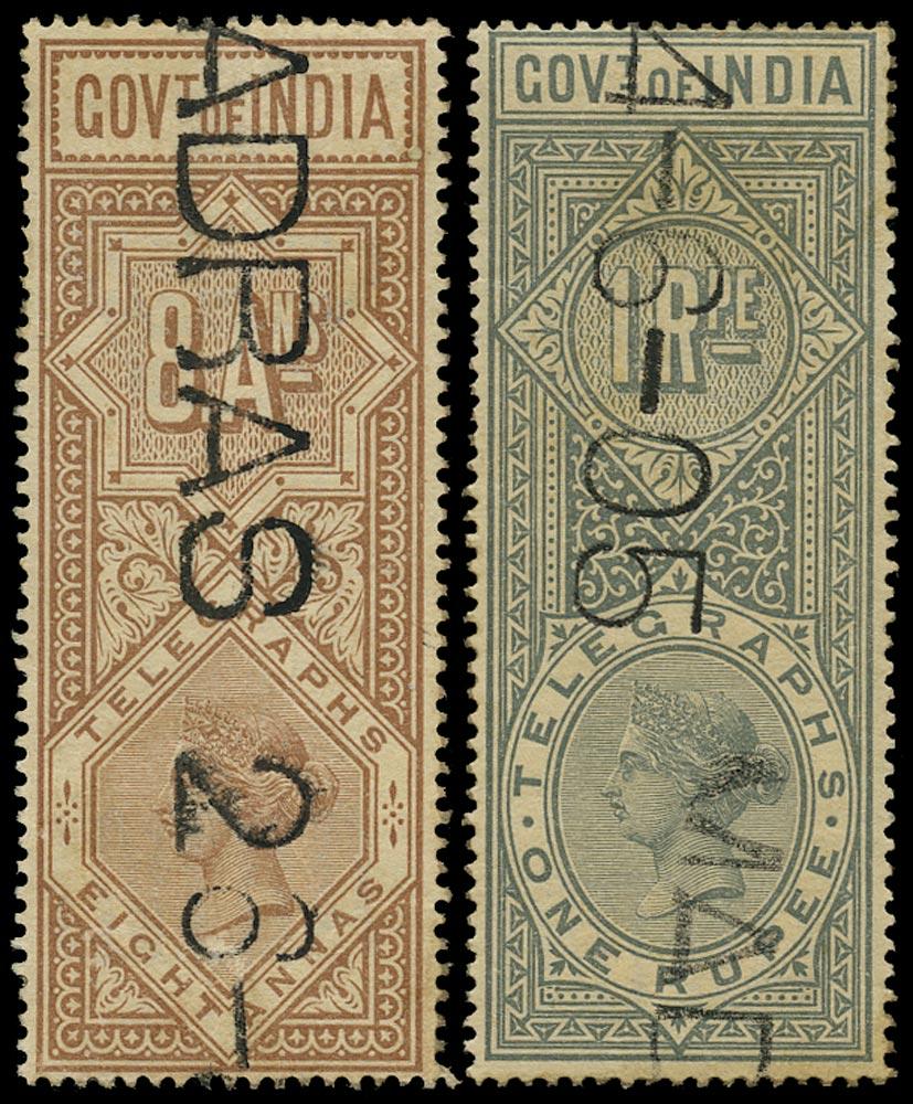 INDIA 1890  SGT45/6 Telegraph