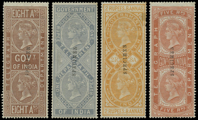 INDIA 1869  SGT7, 9/10, 12 Telegraph