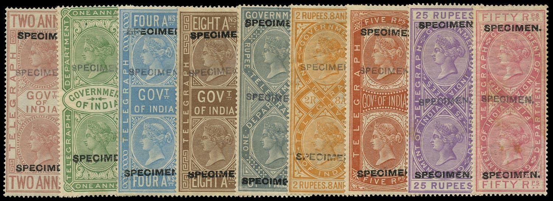 INDIA 1882  SGT5, T32, T34/8, 40/1 Telegraph