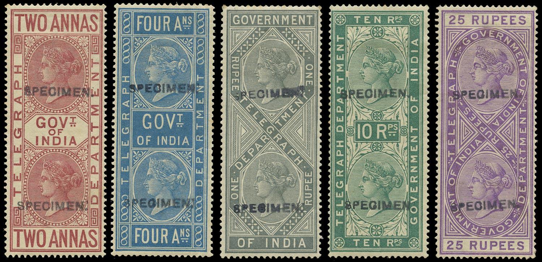 INDIA 1882  SGT33/4, 36, 39/40 Telegraph