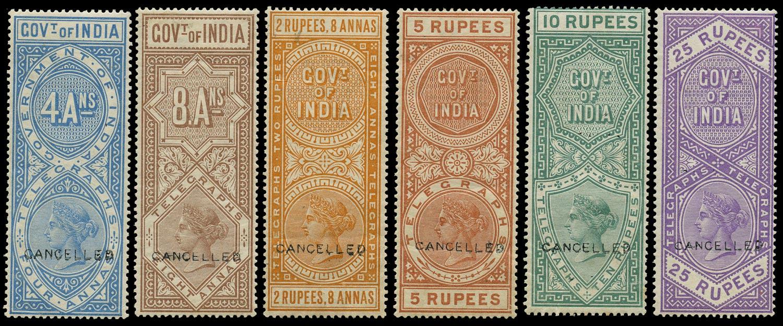 INDIA 1890  SGT44/5, 47/50 Telegraph