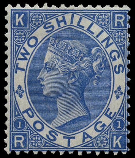 GB 1867  SG118 Pl.1 Mint unused large part o.g. example (RK)