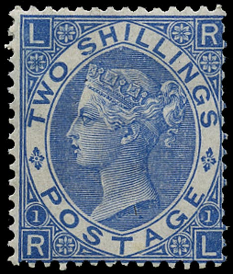 GB 1867  SG118 Pl.1 Mint unused large part o.g. example (RL)