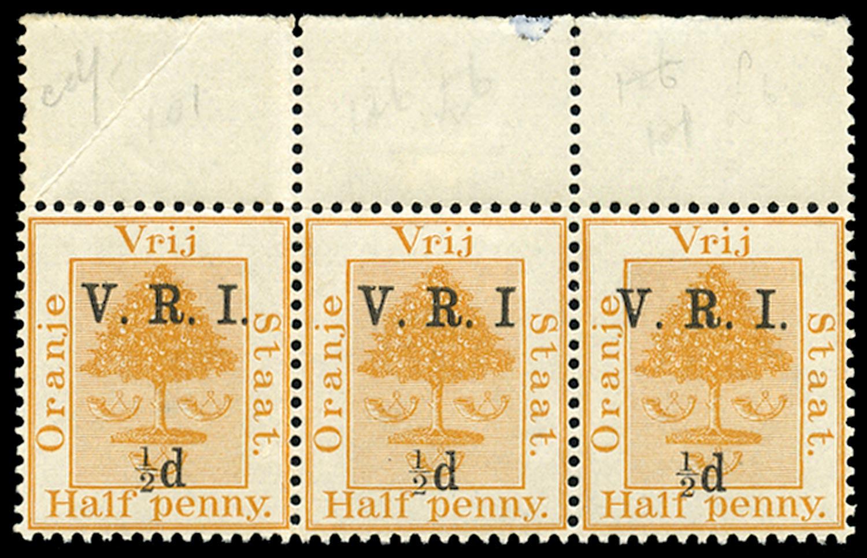 ORANGE FREE STATE 1900  SG101b Mint unmounted ½d on ½d orange variety No stop after I