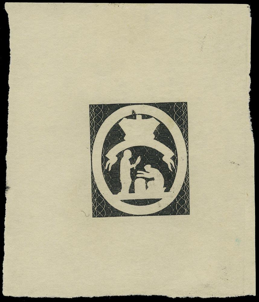 ST VINCENT 1880  SG32 Proof of the 5s skeleton design in black