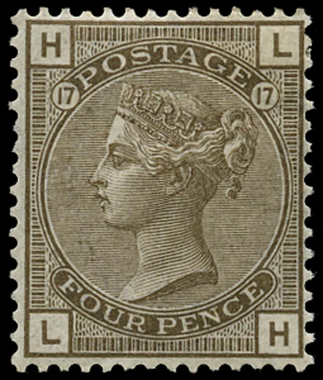 GB 1880  SG154 Pl.17 Mint - unused o.g. example (LH)