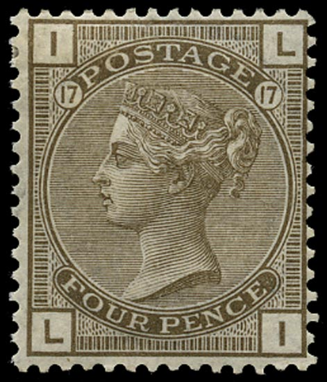 GB 1880  SG154 Pl.17 Mint - unused o.g. example (LI)