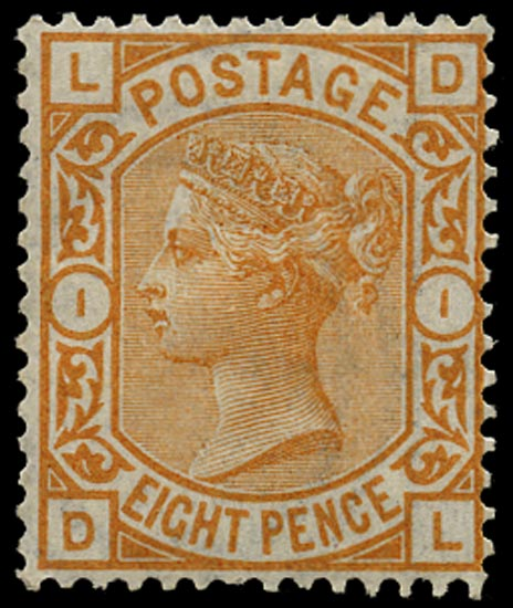 GB 1876  SG156 Pl.1 Mint - unused o.g. example (DL)