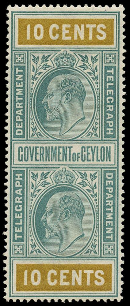 CEYLON 1903  SGT151 Telegraph