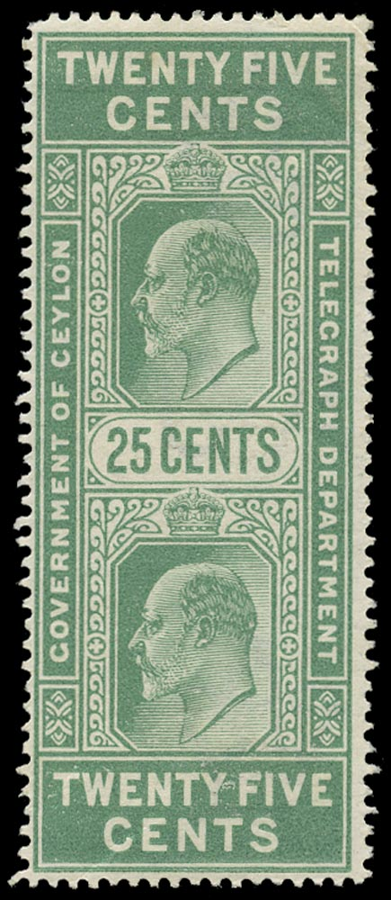 CEYLON 1903  SGT154 Telegraph