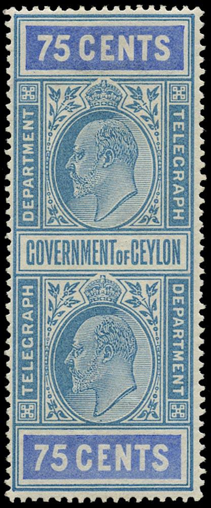 CEYLON 1903  SGT158 Telegraph