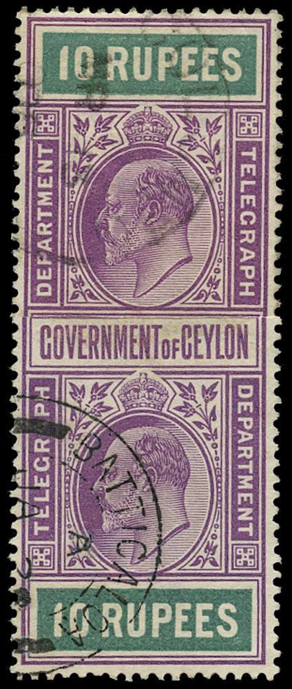 CEYLON 1903  SGT162 Telegraph