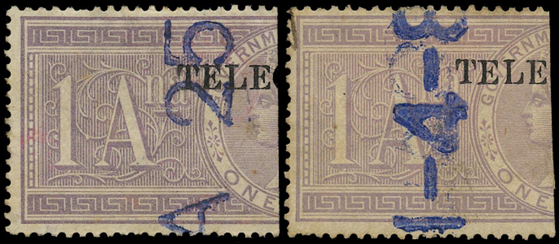 INDIA 1881  SGT24/5 Telegraph