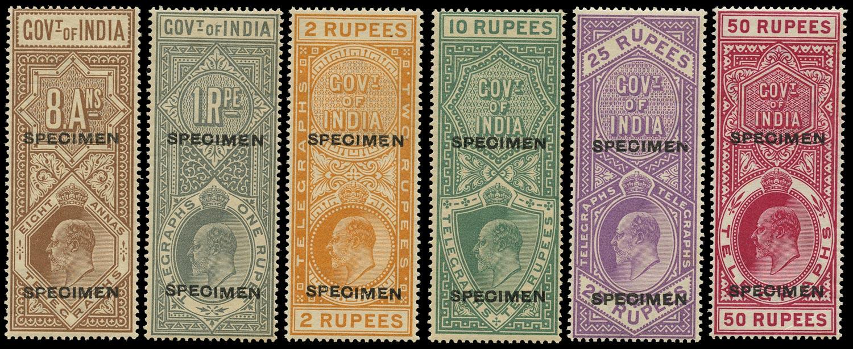 INDIA 1904  SGT59/61, 63/5 Telegraph