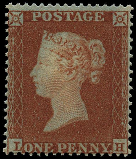 GB 1854  SG17 Pl.172 Mint - unused o.g. (LH)