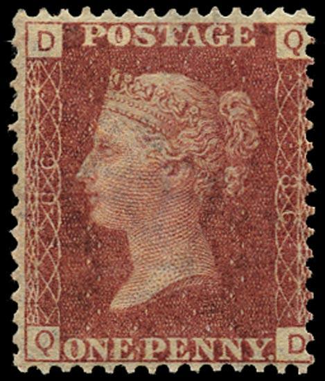 GB 1864  SG43 Pl.86 Mint Unused o.g. example (QD)