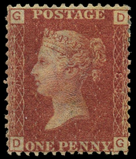 GB 1864  SG43 Pl.88 Mint Unused o.g. example (DG)