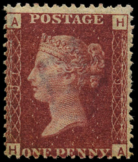 GB 1864  SG43 Pl.91 Mint Unused o.g. example (HA)