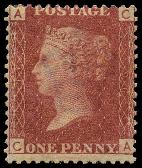 GB 1864  SG43 Pl.96 Mint Unused o.g. example (CA)