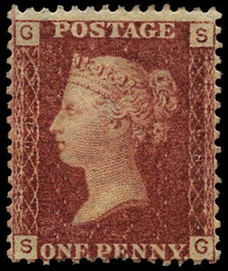 GB 1865  SG43 Pl.98 Mint Unused o.g. example (SG)