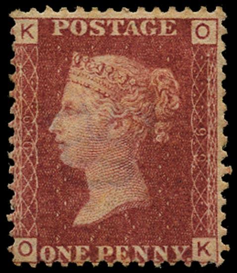 GB 1866  SG43 Pl.99 Mint Unused o.g. example (OK)