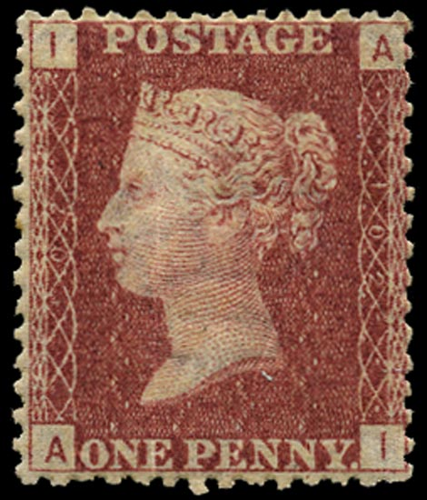 GB 1866  SG43 Pl.102 Mint Unused o.g. example (AI)