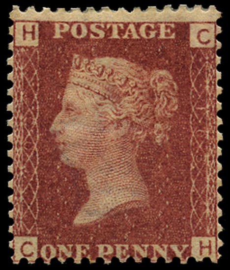 GB 1866  SG43 Pl.103 Mint Unused o.g. example (CH)