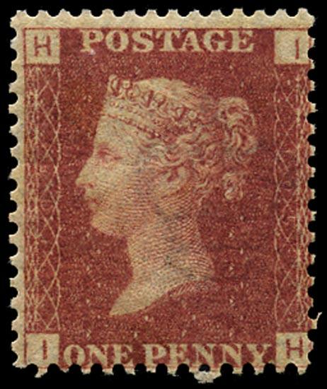 GB 1868  SG43 Pl.105 Mint Unused o.g. example (IH)