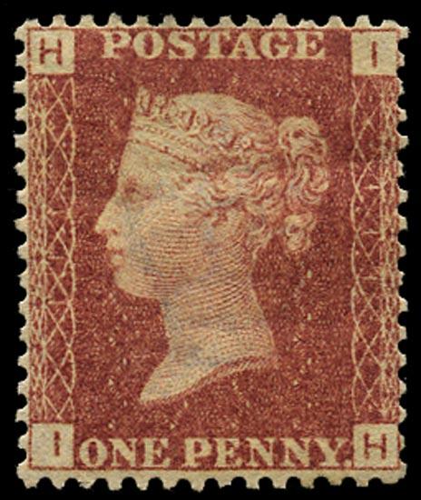 GB 1868  SG43 Pl.111 Mint Unused o.g. example (IH)