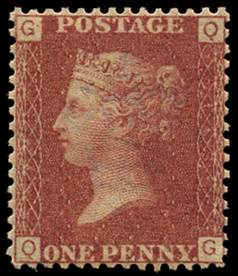 GB 1868  SG43 Pl.113 Mint Unused o.g. example (QG)