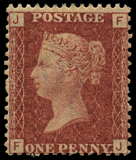 GB 1868  SG43 Pl.116 Mint Unused o.g. example (FJ)