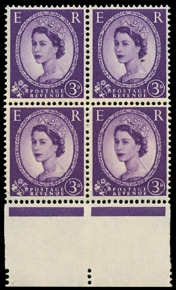 GB 1958  SG575var Mint - Double thickness paper