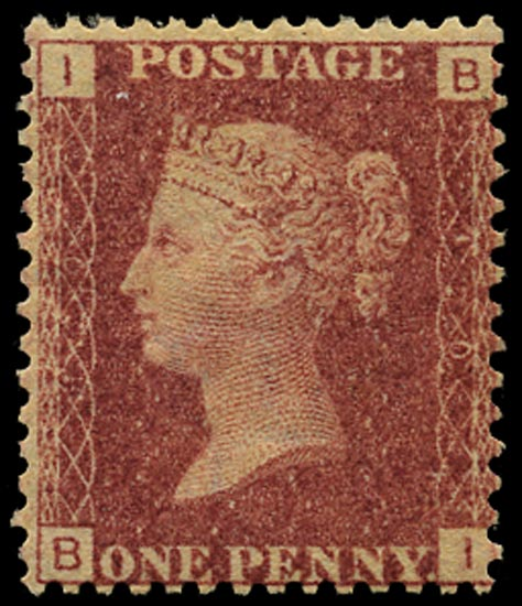 GB 1868  SG43 Pl.120 Mint Unused o.g. example (BI)