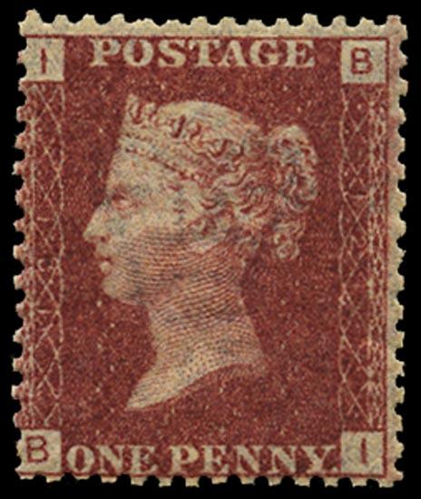 GB 1868  SG43 Pl.121 Mint Unused o.g. example (BI)