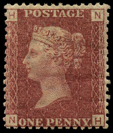 GB 1869  SG43 Pl.122 Mint Unused o.g. example (NH)