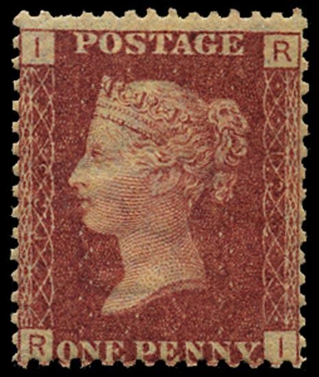 GB 1869  SG43 Pl.123 Mint Unused o.g. example (RI)