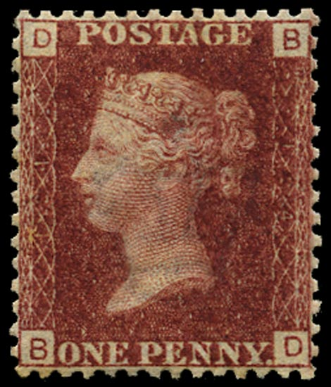 GB 1869  SG43 Pl.124 Mint Unused o.g. example (BD)
