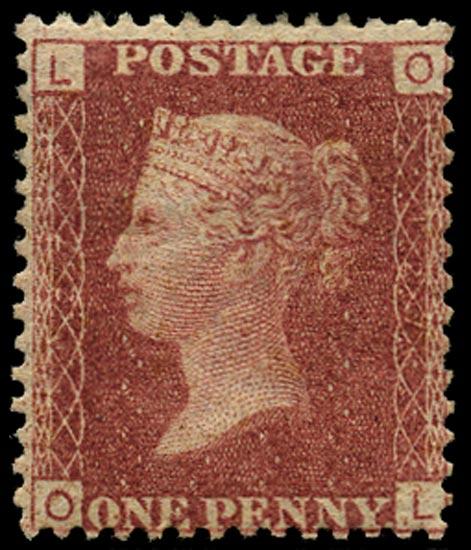 GB 1869  SG43 Pl.127 Mint Unused o.g. example (OL)