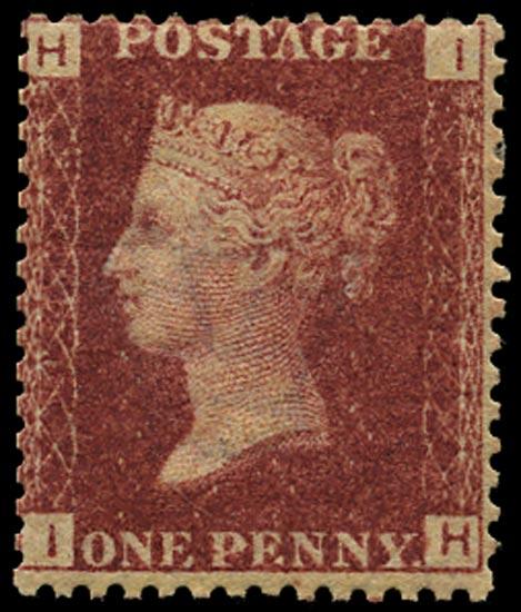 GB 1870  SG43 Pl.143 Mint Unused o.g. example (IH)