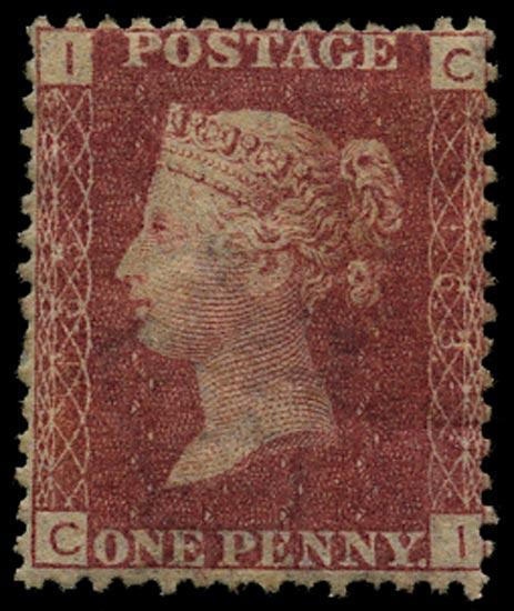 GB 1872  SG43 Pl.163 Mint Unused o.g. example (CI)
