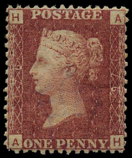 GB 1874  SG43 Pl.176 Mint Unused o.g. example (AH)
