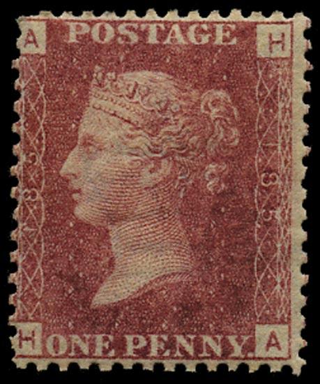 GB 1875  SG43 Pl.185 Mint Unused o.g. example (HA)