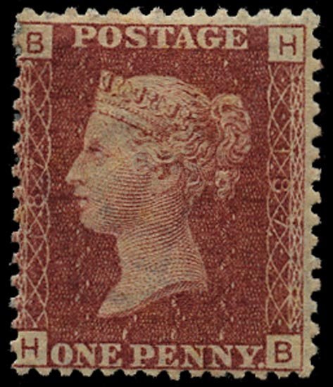GB 1876  SG43 Pl.187 Mint Unused o.g. example (HB)