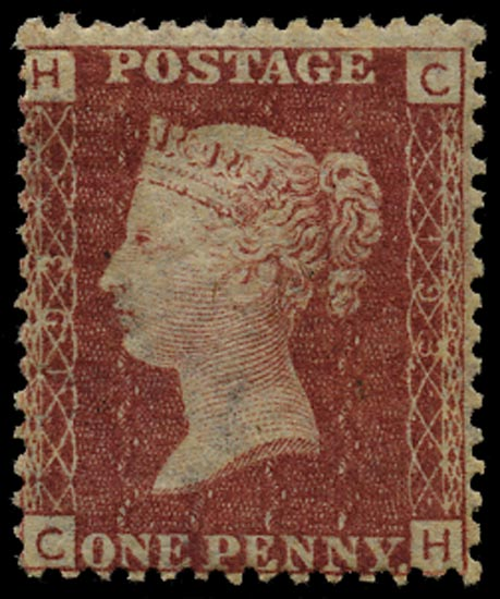 GB 1876  SG43 Pl.193 Mint Unused o.g. example (CH)