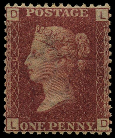 GB 1877  SG43 Pl.196 Mint Unused o.g. example (LD)