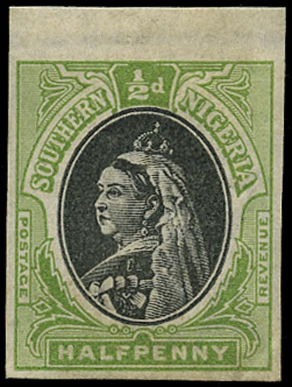 SOUTHERN NIGERIA 1901  SG1 Proof