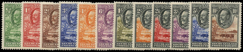 BECHUANALAND 1932  SG99/110 Mint KGV set of 12 to 10s