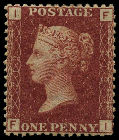 GB 1879  SG43 Pl.219 Mint Unused o.g. example (FI)